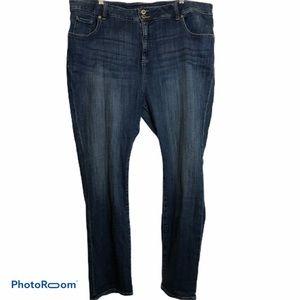 Lucky Brand medium wash straight leg blue jeans